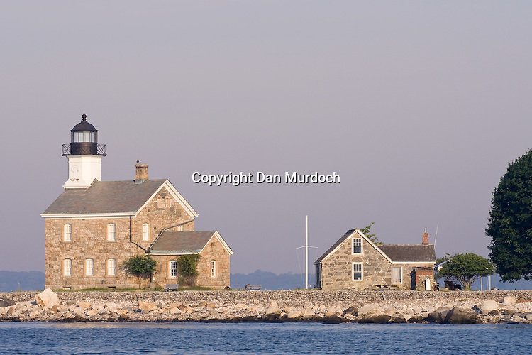 Sheffield Island lighthouse in the morning light
