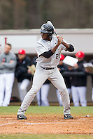 Kevin Jordan (21) of the Wake Forest Demon Deacons at bat against the Davidson Wildcats at Wilson Field on March 19, 2014 in Davidson, North Carolina.  The Wildcats defeated the Demon Deacons 7-6.  (Brian Westerholt/Four Seam Images)