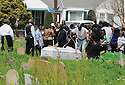 Funeral in Holt Cemetery, 2014