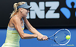 Maria Sharapova (RUS) wins at Australian Open in Melbourne Australia on 14th January 2013