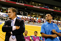Harrison, NJ - Friday July 07, 2017: Jorge Luis Pinto, Amado Guevara during a 2017 CONCACAF Gold Cup Group A match between the men's national teams of Honduras (HON) vs Costa Rica (CRC) at Red Bull Arena.