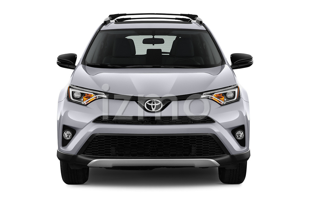 Car photography straight front view of a 2018 Toyota RAV4 SE 5 Door SUV Front View