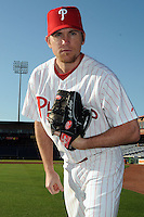 Feb 20, 2009; Clearwater, FL, USA; The Philadelphia Phillies pitcher Brad Lidge (54) during photoday at Bright House Field. Mandatory Credit: Tomasso De Rosa/ Four Seam Images