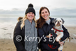 Ready to take a stroll on the beach in Ballyheigue on Sunday, l to r: Stacy and Laura Reidy with their dog Lady.