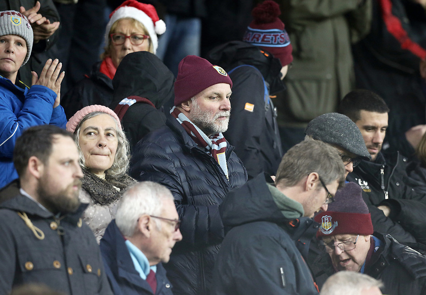 Burnley fans anxiously watch the action <br /> <br /> Photographer Rich Linley/CameraSport<br /> <br /> The Premier League - Burnley v Brighton and Hove Albion - Saturday 8th December 2018 - Turf Moor - Burnley<br /> <br /> World Copyright © 2018 CameraSport. All rights reserved. 43 Linden Ave. Countesthorpe. Leicester. England. LE8 5PG - Tel: +44 (0) 116 277 4147 - admin@camerasport.com - www.camerasport.com