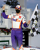 June 28  , 2019: #11: Denny Hamlin, Joe Gibbs Racing, Toyota Camry FedEx Ground won the Pocono 350  at the Pocono Raceway  in Pocono Raceway  , PA .  .   .  (HHP/Andrew Coppley)