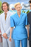 CANNES, FRANCE. July 13, 2021: Wes Anderson & Tilda Swinton at the photocall for Wes Anderson's The French Despatch at the 74th Festival de Cannes.<br /> Picture: Paul Smith / Featureflash