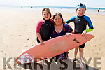 Patricia Horan, with her children Aoife and Tadgh Dalton on the beach in Ballybunion on Friday.