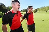Kazuma Kabori defeats James Hydes to claim victory for Canterbury. 2020 Interprovincial Golf Championships, Whitford Gold Club, Auckland, New Zealand, Saturday 28 November 2020. Photo: Simon Watts/www.bwmedia.co.nz