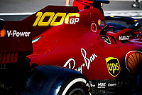 10th September 2020; Mugello race track, Scarperia e San Piero, Tuscany, Italy ; Formula 1 Grand Prix of Tuscany, arrival day;  Ferrari of Sebastian Vettel GER in new livery, especially for the 1000th f1 race of Ferrari