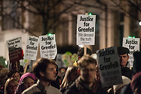 Silent march for the victims of the Grenfell Tower disaster. Ladbroke grove, West London 14-1-18