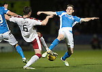 St Johnstone v Rangers…28.12.16     McDiarmid Park    SPFL<br />Blair Alston and Danny Wilson<br />Picture by Graeme Hart.<br />Copyright Perthshire Picture Agency<br />Tel: 01738 623350  Mobile: 07990 594431