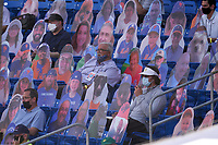 Scouts sit among New York Mets fan cutouts Major League Spring Training game against the Washington Nationals on March 18, 2021 at Clover Park in St. Lucie, Florida.  (Mike Janes/Four Seam Images)