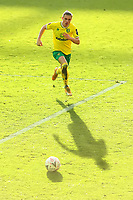 9th January 2021; Carrow Road, Norwich, Norfolk, England, English FA Cup Football, Norwich versus Coventry City; Przemysław Placheta of Norwich City comes forward in low winter sunlight