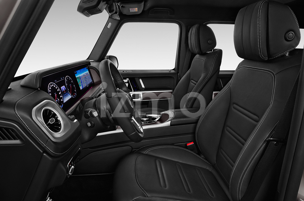 Front seat view of 2019 Mercedes Benz G-Class Base 5 Door SUV Front Seat  car photos