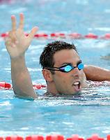 Serbia's Milorad Cavic reacts after winning the gold medal in the men's 50 meters butterfly event at the Swimming World Championships in Rome, 27 July 2009..UPDATE IMAGES PRESS/Riccardo De Luca