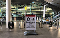 Heathrow Airport, England - 07.06.2020<br /> .<br /> Signage at Heathrow Airport, Terminal 2, London, England as government COVID-19 guidelines are updated to two-week quarantine periods for anyone arriving into the United Kingdom, which will be enforced from Monday 8th June 2020.<br /> Photo by Andy Rowland.