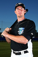 March 1, 2010:  Catcher J.P. Arencibia (9) of the Toronto Blue Jays poses for a photo during media day at Englebert Complex in Dunedin, FL.  Photo By Mike Janes/Four Seam Images