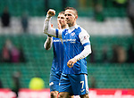 Celtic v St Johnstone…18.02.18…   Celtic Park    SPFL<br />Chris Millar salutes the fans at full time<br />Picture by Graeme Hart. <br />Copyright Perthshire Picture Agency<br />Tel: 01738 623350  Mobile: 07990 594431