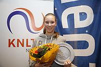 Hilversum, Netherlands, December 3, 2017, Winter Youth Circuit Masters, Winner girls 14 years Anouk Koevermans<br /> Photo: Tennisimages/Henk Koster