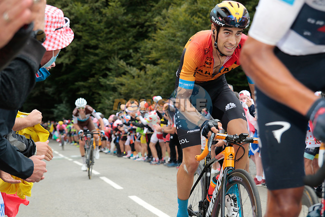 Mikel Landa (ESP) Bahrain McLaren climbs Col de Marie Blanque during Stage 9 of Tour de France 2020, running 153km from Pau to Laruns, France. 6th September 2020. <br /> Picture: Colin Flockton | Cyclefile<br /> All photos usage must carry mandatory copyright credit (© Cyclefile | Colin Flockton)
