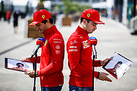 SAINZ Carlos (spa), Scuderia Ferrari SF21, portrait LECLERC Charles (mco), Scuderia Ferrari SF21, portrait during the Formula 1 Rolex Turkish Grand Prix 2021, 16th round of the 2021 FIA Formula One World Championship from October 8 to 10, 2021 on the Istanbul Park, in Tuzla, Turkey -<br /> Formula 1 Turkish GP 07/10/2021<br /> Photo DPPI/Panoramic/Insidefoto <br /> ITALY ONLY