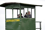 September 05, 2009: The stewards watch out over the track. The Tattersalls Millions Irish Champion Stakes. Leopardstown Racecourse, Dublin, Ireland.