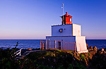 Amphitrite Lighthouse protects the entry to Barkley Sound, Ucluelet Harbor and Albernie Inlet on the west side of Vancouver Island.  The lighthouse sits at the south end of the Long Beach unit of Pacific Rim National Park on the Wild Pacific Trail.