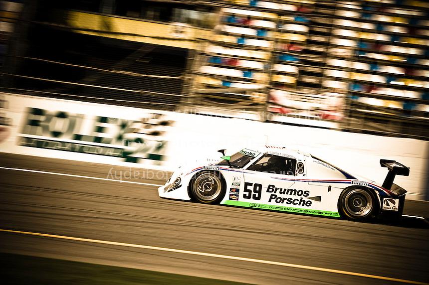 22-25 January, 2009, Daytona Beach, Florida USA.#59 Brumos Porsche/Riley of J.C. France, Joaa Barbosa, Terry Borcheller & Hurley Haywood.©F.Peirce Williams 2009.F.Peirce Williams.photography