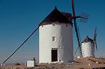Spain, Consuegra, windmills of the La Mancha country, Europe,.