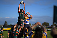 Action from the Auckland premier club rugby union match between Pakuranga and Te Papapa at Lloyd Elsmore Park in Auckland, New Zealand on Saturday, 25 July 2020. Photo: Dave Lintott / lintottphoto.co.nz