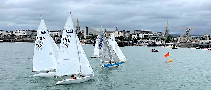 A fleet of five 2.4mR competitors (from a total fleet of eight boats in the country) raced for both Open and Para titles at Dun Laoghaire Harbour
