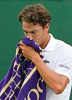 21-06-10, Tennis, England, Wimbledon, Jesse Huta Galung ziet het somber in