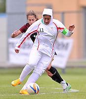 Monfalcone, Italy, April 26, 2016.<br /> Iran's captain #11 Geraeili controls the ball during USA v Iran football match at Gradisca Tournament of Nations (women's tournament). Monfalcone's stadium.<br /> © ph Simone Ferraro / Isiphotos