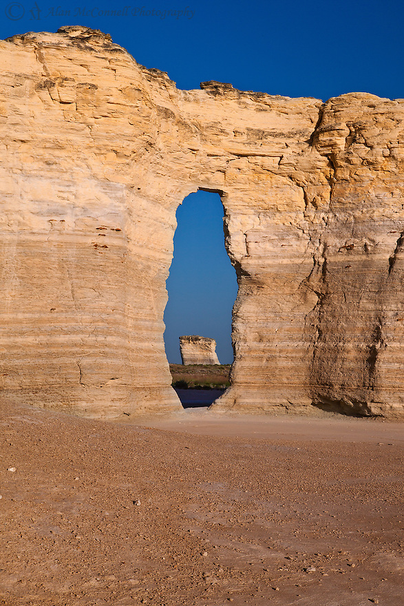 Formed from an ancient sea bed, these unusual rock formations are found, in of all places, the plains of Kansas.