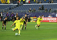 20th November 2020, Nashville, TN, USA;  Nashville SC midfielder Hany Mukhtar (10) scores from a penalty kick during an MLS Cup Playoffs Eastern Conference Play-In game between Nashville SC and Inter Miami, November 20, 2020 at Nissan Stadium