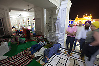 Asia,India,Punjab, Amristar, Golden temple,Palki Sahib where is the Sikh holy book, pilgrims spend the night praing and sleeping