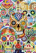 Randy, CUTE ANIMALS, LUSTIGE TIERE, ANIMALITOS DIVERTIDOS, halloween, paintings+++++,USRW344,#ac#, EVERYDAY ,dia de los muertos,skulls,
