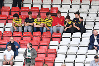 Watford Fans come back to the Lamex Sadium EFL League 2 fixture  during Stevenage vs Watford, Friendly Match Football at the Lamex Stadium on 27th July 2021