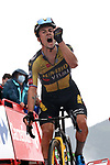 Primoz Roglic (SLO) Jumbo-Visma wins Stage 17 of La Vuelta d'Espana 2021, running 185.8km from Unquera to Lagos de Covadonga, Spain. 1st September 2021.    <br /> Picture: Luis Angel Gomez/Photogomezsport   Cyclefile<br /> <br /> All photos usage must carry mandatory copyright credit (© Cyclefile   Luis Angel Gomez/Photogomezsport)