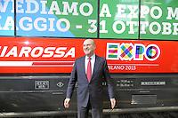 Milano, presentazione dei collegamenti Trenitalia Frecciarossa con la stazione di Rho Fiera per l'EXPO universale 2015;  Michele Mario Elia, amministratore delegato di Trenitalia