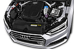 Car stock 2018 Audi A5  Premium 2 Door Coupe engine high angle detail view
