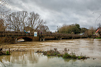 DEC 26 River Nene burst its banks at Thrapston at Billing Aquadrome