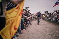 Niki Terpstra (NED/Quick-Step Floors) at Carrefour de l'arbre<br /> <br /> 116th Paris-Roubaix (1.UWT)<br /> 1 Day Race. Compiègne - Roubaix (257km)