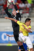 Spain's Pepe Reina and Colombia's Carlos Bacca during international friendly match. June 7,2017.(ALTERPHOTOS/Acero) (NortePhoto.com) (NortePhoto.com)