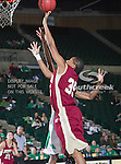 Denver Pioneer Women forward Desiree Hunter (35) in action during the game between the Denver Pioneer Women and the University of North Texas Mean Green at the North Texas Coliseum,the Super Pit, in Denton, Texas. Denver defeats UNT 50 to 44...