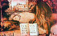 Venice:  Palazzo Ducale--The Lion of St. Mark. CARPACCIO, Vittore Reference only.
