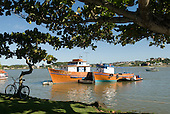 Ilheus, Bahia State, Brazil. Fishing boats in the Bahia de Pontal.