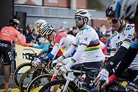 Alejandro Valverde (ESP/Movistar)  at the race start<br /> <br /> 103rd Ronde van Vlaanderen 2019<br /> One day race from Antwerp to Oudenaarde (BEL/270km)<br /> <br /> ©kramon