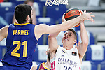 Real Madrid Baloncesto's Jaycee Carroll (r) and FC Barcelona's Alex Abrines during Liga Endesa ACB 1st Final match. June 13,2021. (ALTERPHOTOS/Acero)